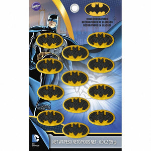 12 BATMAN Icing Decorations
