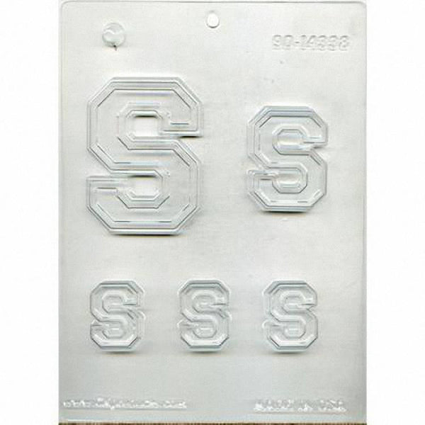 Collegiate Letter S n Chocolate Mold 90-14333 - FREE USA SHIPPING - Soap Concrete Plaster Crafts