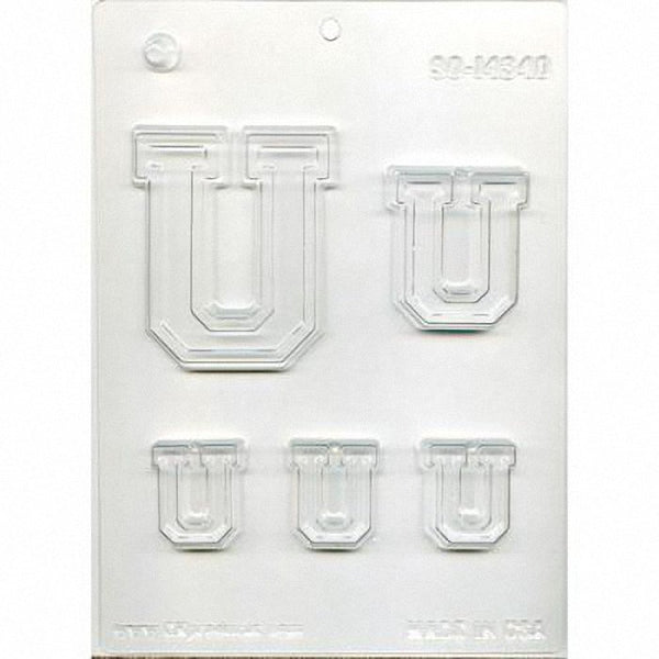 Collegiate Letter U u Chocolate Mold 90-14333 - FREE USA SHIPPING - Soap Concrete Plaster Crafts