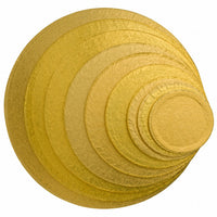 "Cake Drum Board 1/2"" Thick Round 6 Pack GOLD Foil"