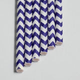 Cake Pop Sticks 6 in Purple Chevron or Straws