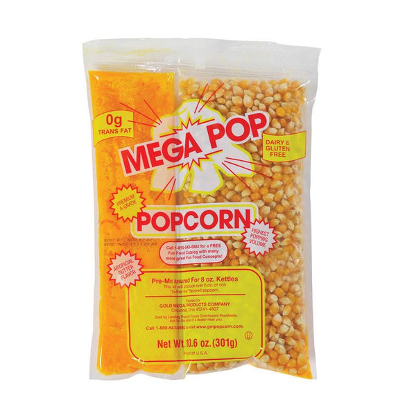 Mini Popcorn Kit 5.5 oz bag - Mega Pop - Corn and Butter-Flavor Oil Kit - 0g Trans Fat Dairy & Gluten Free