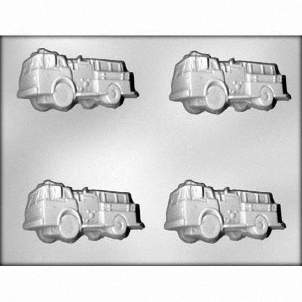 "3.5"" Firetruck Chocolate Mold - FREE USA SHIPPING - Ice Tray Soap Making Plaster Crafting Concrete Crafts"