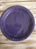 "Purple 7"" Plates 24 count"