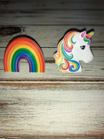 Unicorn & Rainbow cupcake rings