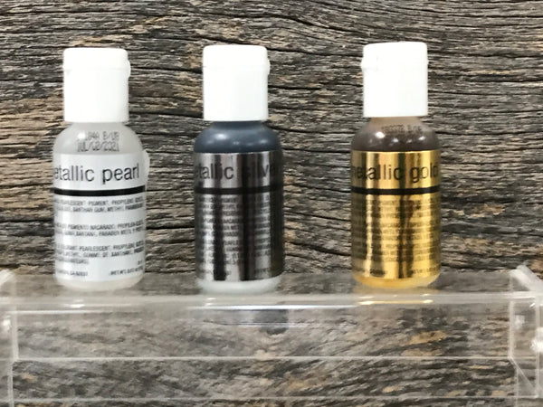 Chefmaster 3pc. Metallic Airbrush Color Set