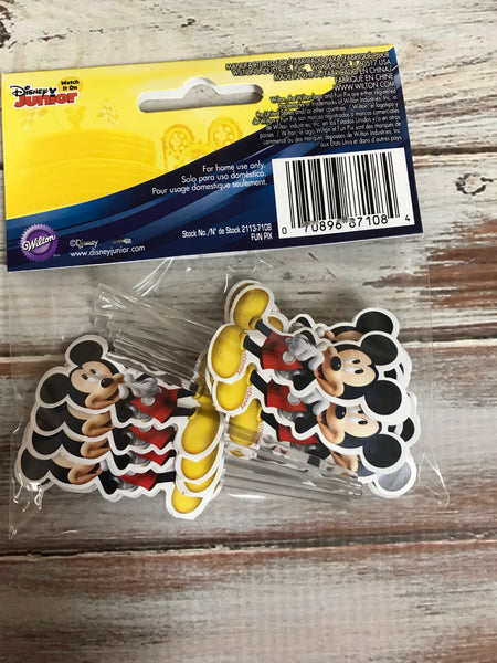 MICKEY AND THE ROAD RACERS cupcake cake picks 24 count