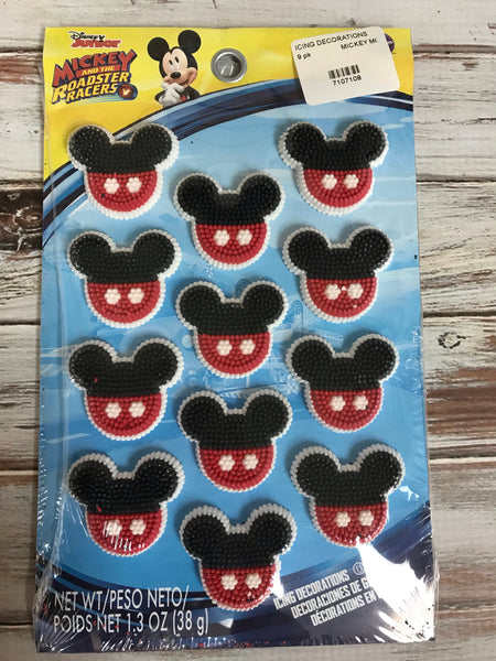 MICKEY AND THE ROAD RACERS Icing Decoration 9 pack