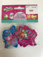 Shopkins 24 cupcake picks (reversible sides)