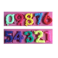Numbers 0-9 Silicone Mold - Gumpaste Fondant Royal Icing Soap DIY Number #