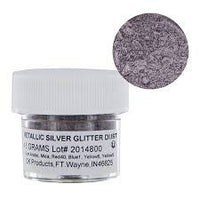 Metallic silver glitter dust