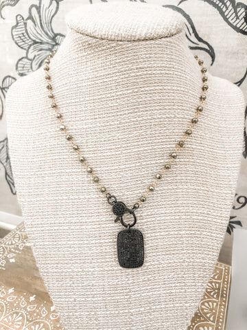 PYRITE WITH DOG TAG