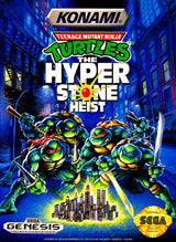 Teenage Mutant Ninja Turtles: The Hyperstone Heist (Sega Genesis) - Repro Game w/ Clamshell Case & Manual - CrebbaTECH