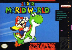 Super Mario World (Super Nintendo, SNES) - Reproduction Video Game Cartridge with Universal Game Case and Glossy Manual … - CrebbaTECH