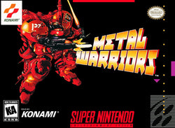 Metal Warriors (Super Nintendo, SNES) - Reproduction Video Game Cartridge with Universal Game Case - CrebbaTECH