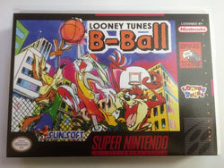 Looney Tunes B-Ball (Super Nintendo, SNES) - Reproduction Video Game Cartridge with Universal Game Case and Manual - CrebbaTECH