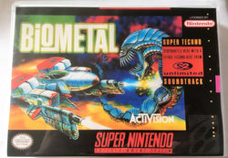 Biometal (Super Nintendo, SNES) - Reproduction Video Game Cartridge with Universal Game Case and Manual - CrebbaTECH