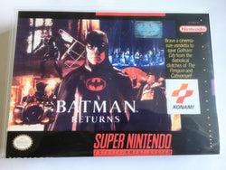 Batman Returns (Super Nintendo, SNES) - Reproduction Video Game Cartridge with Universal Game Case and Manual - CrebbaTECH