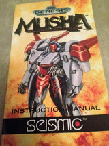 M.U.S.H.A. (MUSHA) - Sega Genesis Reproduction Video Game Manual - CrebbaTECH
