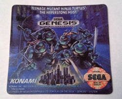 Teenage Mutant Ninja Turtles: The Hyperstone Heist (Sega Genesis)  - High-quality  Replacement Label - CrebbaTECH