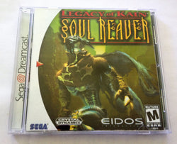Legacy of Kain: Soul Reaver (Sega Dreamcast) - Reproduction Disc with Cover, Inserts, Manual