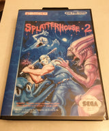 Splatterhouse 2 (Sega Genesis / Mega Drive) - Reproduction Video Game Cartridge with Clamshell Case and Manual - CrebbaTECH