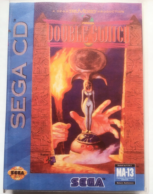 Double Switch (Sega CD) - Reproduction Game - Universal Game Case w/ Full Color Inserts, Manual & Disc Print - CrebbaTECH