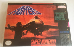 Aero Fighters (Super Nintendo, SNES) - Reproduction Video Game Cartridge with Universal Game Case and Manual - CrebbaTECH