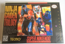 Ninja Gaiden Trilogy (Super Nintendo, SNES) Reproduction Cartridge with Universal Game Case and Glossy Manual - CrebbaTECH