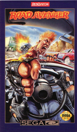 Road Avenger (Sega CD) - Reproduction Game - Universal Game Case w/ Full Color Inserts, Manual & Disc Print - CrebbaTECH