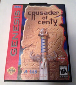 Crusader of Centy (SEGA Genesis / Mega Drive ) - Reproduction Video Game Cartridge in Clamshell Case with Manual - CrebbaTECH