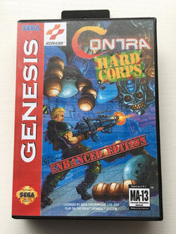 Contra: Hard Corps Enhanced Edition (Sega Genesis / Megadrive) - Reproduction Cartridge with Clamshell Case and Manual - CrebbaTECH