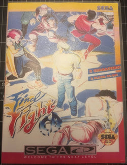Final Fight CD (Sega CD) - Reproduction Game - Universal Game Case w/ Full Color Inserts, Manual & Disc Print - CrebbaTECH