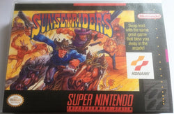 Sunset Riders (Super Nintendo, SNES) - Reproduction Video Game Cartridge with Universal Game Case and Glossy Manual - CrebbaTECH