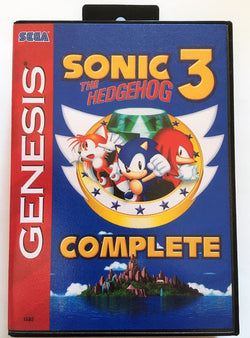 Sonic 3 Complete (Sega Genesis / Megadrive) - Reproduction Cartridge with Clamshell Case - CrebbaTECH