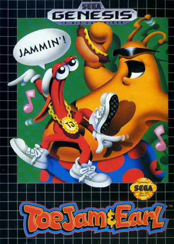 [Coming Soon] Toejam & Earl (Sega Genesis / Megadrive) - Reproduction Cart with Clamshell Case and Manual - CrebbaTECH