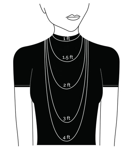 GEMS BY THE FOOT™ Necklace Lengths