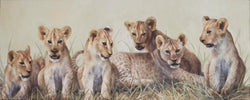 lion cubs oil painting by james corwin fine art wildlife artist