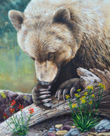 Lady Bug Heaven - Grizzly Bear - 24x30 Huile sur toile