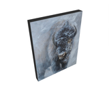 giclee canvas print bison buffalo by james corwin fine art