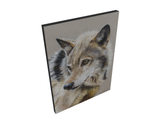 giclee canvas open edition portrait of a wolf painting by james corwin fine art