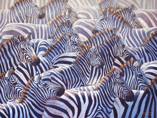 zebras herd stampede africa wildlife painting by james corwin fine art