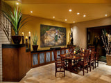 african mother lion grooms her cub art painting limited edition print hanging in dining room