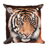 tiger decorative pillow by james corwin art