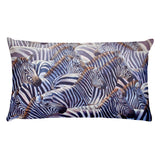 zebra decorative rectangular throw pillow african safari wildlife art painting by james corwin