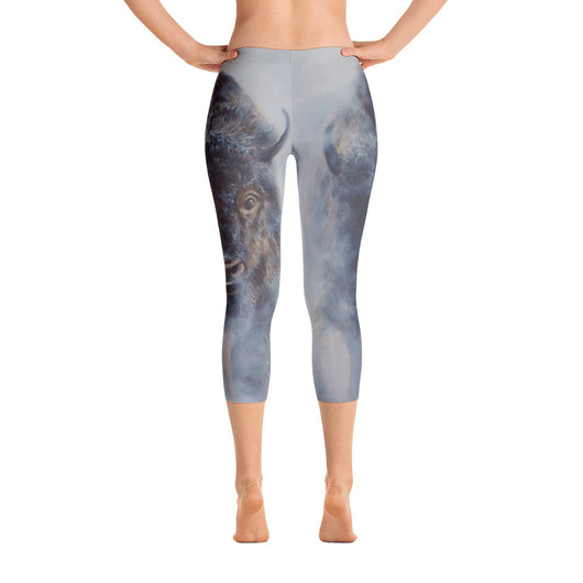 Giants in the Mist Capri Leggings