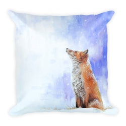 red fox decorative pillow by james corwin art
