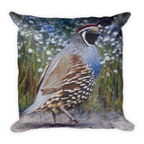 Quail Jaunts - Square Pillow