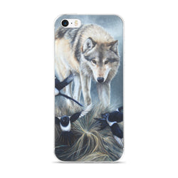 wolf magpies birds iphone case apple by james corwin fine art wildlife artist