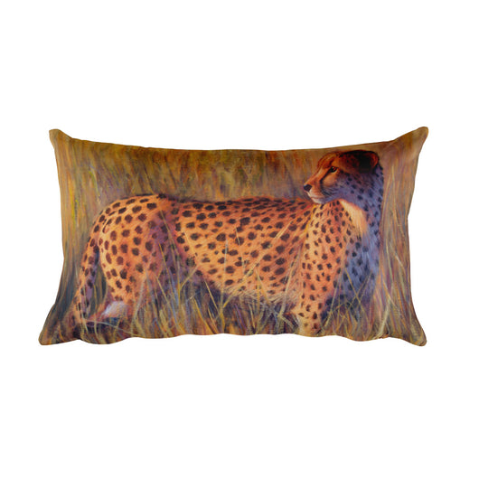 cheetah decorative pillow by james corwin art